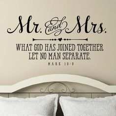 Diy Wall Decor For Bedroom, Bedroom Decor For Couples, Couple Bedroom, Bedroom Wall, Bedroom Ideas, Bedroom Furniture, Bedroom Signs, Dream Bedroom, Christian Wall Decals
