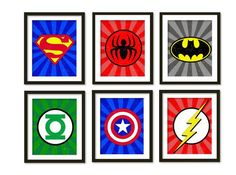 Love this vintage super hero wall art