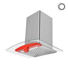 Okap kominowy Ciarko Design Sigma Light czerwony http://www.sklep.ciarkodesign.pl/e-sklep/okapy-kominowe/sigma-light-red-detail #DESIGN #KITCHEN #OKAP #HOOD