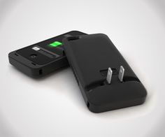 JuiceTank - iPhone Case with Built-In Charger  How cool is this?!