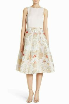 255aa9364651 Ted Baker Almita Jacquard Opulent Orient Embroidered Midi Party Dress 3 12  40 #TedBaker #