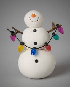 Polymer Clay Snowman for   Christmas Holiday_10
