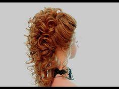 Прически на выпускной, свадебные прически. Wedding prom hairstyles for long hair - YouTube