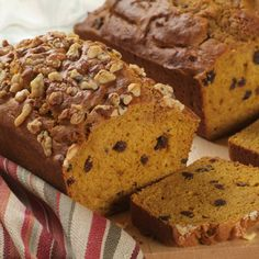 Anyway You Like It Pumpkin Breads - in case you accidentally bought the can of pie mix instead of plain pumpkin. :-/