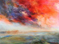"Saatchi Art Artist Rikka Ayasaki; Painting, ""Passions-sunset 5006 (SOLD, Prints available,116x81cm)"" #art"