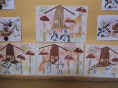Pařezová chaloupka Fairy Tale Crafts, Advent Calendar, Fairy Tales, Crafts For Kids, Templates, Holiday Decor, School, Books, Education