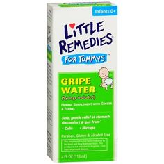 Little Remedies for Tummys Gripe Water 4 fl oz (120 ml) Pack of 4