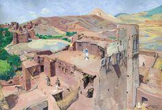 Jacques Majorelle - Sur les Terrasses de Tazouda (1949)