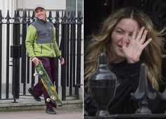 Rocco Ritchie makes a flying visit to mum Madonna's London home before heading off skateboarding