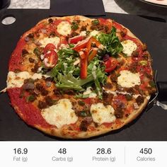 """Ate at @pizzaexpress_uk and this was gooood👌 easily fit into my calories for the day. This pizza was called """"Legerra sloppy giuseppe"""" give it a go peoples👍🏽👌🏽 #iifym #flexibledieting #healthyfood #eathealthy #foodporn #gym #workingout #myprotein #pizza #l4l #f4f #muscle #abs #followforfollow #like4like #instagood  Yummery - best recipes. Follow Us! #foodporn"""