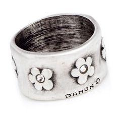 78e6fd2c0 Danon flower ring B Fashion, Heart Charm, Sterling Silver Jewelry, Silver  Rings,