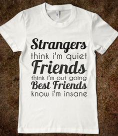 Strangers Friends Best Friends T-Shirt from Glamfoxx Shirts