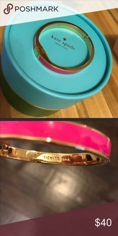 ⬇️⬇️ Kate spade tickled pink bracelet ♠️. Reposhing as i ended up getting another color. Comes with box. kate spade Jewelry Bracelets