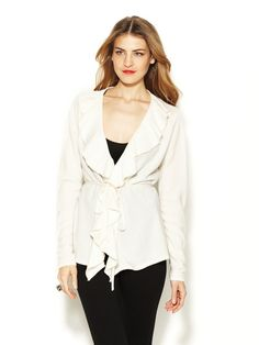 Cashmere Flutter Cardigan by Magaschoni at Gilt