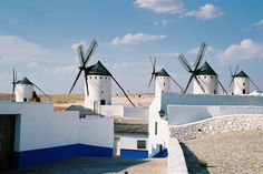 Where Don Quixote saw his giants (Spain). Dom Quixote, Literary Travel, South Of Spain, Spanish Culture, Beautiful Sites, Le Moulin, Murcia, Study Abroad, Walking Tour