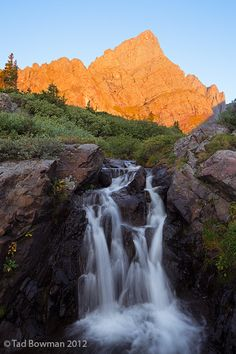 Crestone Needle Sunrise, San Isabel National Forest, Colorado; photo by Tad Bowman
