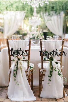 Wedding Chair Signs, Wedding Chair Decorations, Rustic Wedding Signs, Wedding Chairs, Our Wedding, Dream Wedding, Natural Wedding Decor, Decorations For Weddings, Southern Wedding Decor