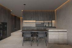 Le tadelakt offre un aspect moderne, lorsque l'enduit est clair et combiné à du mobilier sombre. Il se marie également au style minimaliste : trop de décoration étouffe ce revêtement atypique. Tadelakt, Style Minimaliste, Decoration, New Homes, Behance, Interior Design, Table, Furniture, Home Decor
