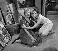 """The Twilight Zone TV Show """"The Midnight Sun""""  Left, Betty Garde, right, Lois Nettleton, with a wild twist at the end of this favorite episode of mine!!"""