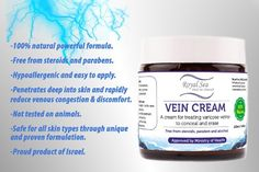 Royal Dead Sea Vein Cream to Conceal and Erase Varicose / Spider Veins Treatment, Reduce Phlebitis, Thrombophlebitis, Broken Legs Capillary Works Spider Vein Treatment, Varicose Veins Treatment, Aching Legs, Broken Leg, Dead Sea, Natural Cures, Skin Treatments, Don't Worry, Outline