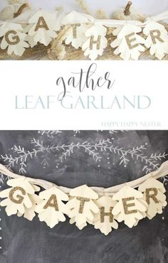 Make Sure to Welcome Fall in with this Cute Leaf Garland This easy and cute Leaf Garland is pretty to hang anywhere in your home. Make sure to welcome fall in with this great little craft. It creates a cozy home. Source by thesweetestdigs Thanksgiving Crafts, Thanksgiving Decorations, Fall Crafts, Decor Crafts, Holiday Crafts, Halloween Decorations, Crafts For Kids, Diy Crafts, Church Decorations