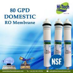 Hi-Tech 80 GPD RO Membranes. http://www.hitechmembranes.com/product/es-2012-80-ro-membrane/