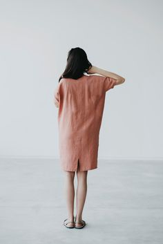 Linen dress Motumo 15S1 by MotumoLinen on Etsy
