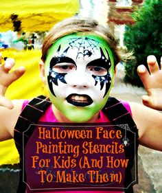 20 Halloween Face Painting Stencils For Kids (And How To Make Them)  {art crafts idea tutorial DIY decor project halloween crafts party halloween costumes}