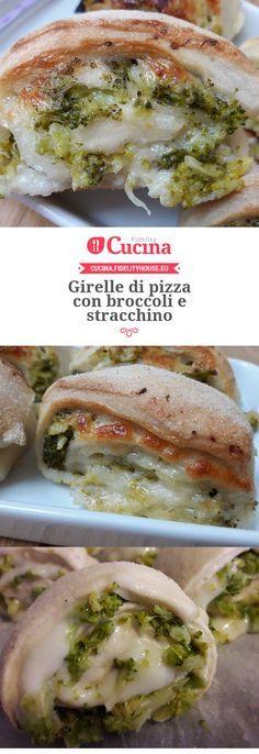 Girelle di pizza con broccoli e stracchino della nostra utente Vittoria. Unisciti alla nostra Community ed invia le tue ricette!