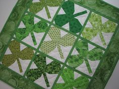 Quilted Table TopperSt. Patrick's Day Green by VillageQuilts