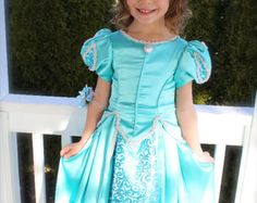 Ariel teal green Ball Gown dress