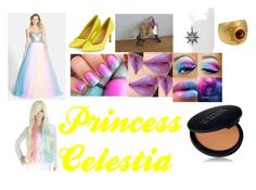 """""""Princess Celestia Closet Cosplay"""" by thecrystalheart on Polyvore featuring Mac Duggal, My Little Pony, Carrera y Carrera and Le Métier de Beauté"""