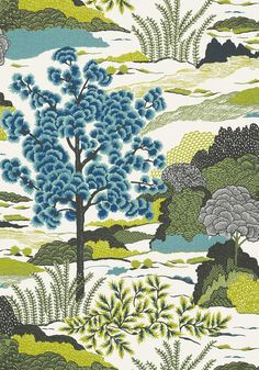 DAINTREE, Bluemoon, T85040, Collection Greenwood from Thibaut