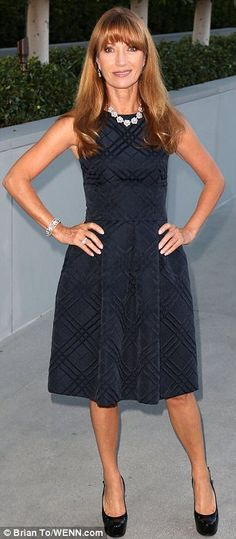 Age-defying: Jane Seymour looked dazzling at the Stars Under The Stars benefit...