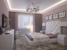 women bedroom interior design trends and wall decoration ideas 2019 Master Bedroom Design, Home Decor Bedroom, Master Suite, Decor Room, Bedroom Designs, Trendy Bedroom, Modern Bedroom, Woman Bedroom, Suites