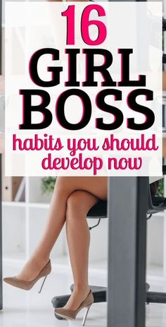 16 Boss Babe Habits to Develop Now Girl Boss, Self Love, Self Care, and Self Development! Here are 16 Girl Boss Habits to Develop Now! Ready to be a boss babe? Use these self-improvement tips to better yourself. Good Habits, Healthy Habits, 7 Habits, Healthy Mind, Boss Babe, Self Development, Personal Development, Leadership Development, Leadership Quotes