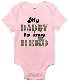 deec799c7b My Daddy Is My Hero Baby Bodysuit Cute Baby Clothes for Infant Boys and Girls  Baby
