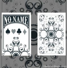 No Name Deck #PlayingCards by USPCC £9.99    Mloong Magic is cooperating with the biggest card association in China, Cards Dancing. As for Cards Dancing, it is the biggest Chinese association for the study of card tricks after Finger Dance. It owns more than 1500 members in Beijing, Shanghai and Hong Kong.  Regarding to the No Name Deck: it was printed on USPCC in April 2012, 2500 Decks were printed. This fully user-defined Deck is with novel designs and great quality.