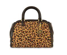 Kyra Leather Leopard Bag by Graeme Black for Desa