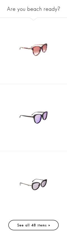 """""""Are you beach ready?"""" by zeeandcoltd ❤ liked on Polyvore featuring accessories, eyewear, sunglasses, cat eye sunglasses, 80s sunglasses, tinted sunglasses, tortoise shell cat eye sunglasses, brown sunglasses, wildfox and lens glasses"""
