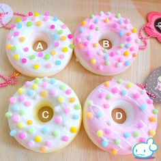 Approx. 7cm Beautiful, deco doughnut squishies from the amazing world of ZoSweet! Each one is handmade and one-of-kind. So, if you see one you like, you should grab it now before it's gone forever. Soft and slow rising, each one comes with its one ball-chain and special tag. WARNING: CHOKING HAZARD - Small parts. Not for children under 3 yrs.