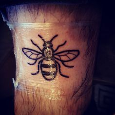 The Manchester Bee. Proud of my city in these dark times. Done by Lee Malone Suburban ink stockport