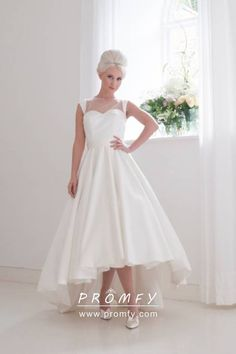 house of mooshki bridal 2015 tessa high low satin gown full ball gown skirt -- House of Mooshki 2016 Wedding Dresses Hi Lo Wedding Dress, Wedding Dress Sketches, Wedding Dress With Pockets, 2016 Wedding Dresses, Tea Length Wedding Dress, Wedding Gowns, Modest Wedding, Bridal Collection, Dress Collection
