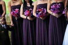 purple and red wedding flowers | Purple Weddings....