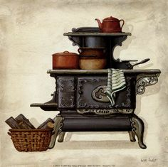 Kitchen - Carla Simons - Picasa Web Albums  I want to do illustrations like this one!!