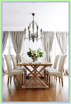 French Inspired Dining Room - French Inspired Dining Room, 31 Easy French Country Decor Ideas A Bud for 2018 French Country Dining Room, Modern French Country, French Country Kitchens, French Country Decorating, French Style, Country Décor, Dining Room Table Decor, Dining Room Design, Room Decor