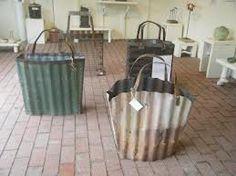 corrugated metal yard art - Google Search