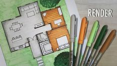 How to render a floor plan by hand Floor Plan Sketch, Sketch Markers, House Layouts, Program Design, Architecture Design, Floor Plans, Flooring, How To Plan, Drawings