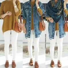 Denim jackets exist from long time ago and they never go out of fashion! If you feel comfy in the smart casual style or you live in the sweat pants all the Islamic Fashion, Muslim Fashion, Hijab Fashion, Fashion Outfits, Denim Fashion, Trendy Fashion, Winter Fashion, Fashion Trends, Denim Outfit