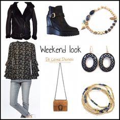 Weekend look✨ www.deleukedingen.nl    #weekend #trousers #shoes #bag #earrings #bracelet #lammy #jacket #outfit #fashion #musthaves #deleukedingen